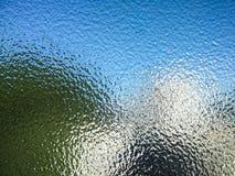 In reliëf gemaakt glas stock foto