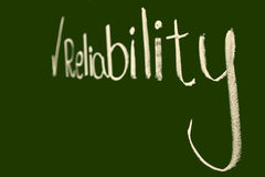 Reliability. Theory is a part of system analysis Royalty Free Stock Photography