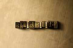 RELIABILITY - close-up of grungy vintage typeset word on metal backdrop. Royalty free stock illustration.  Can be used for online banner ads and direct mail Royalty Free Stock Photos