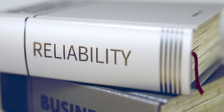 Reliability Concept on Book Title. 3D. Royalty Free Stock Photos