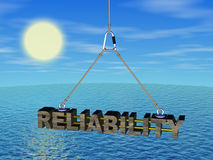 Reliability on the cord under the sea. Three dimensional model Stock Photos