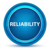 Reliability Eyeball Blue Round Button. Reliability Isolated on Eyeball Blue Round Button vector illustration