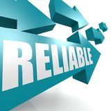 Reliable arrow blue Royalty Free Stock Photos