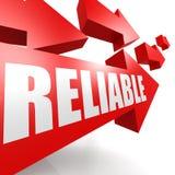 Reliable arrow red Stock Photos
