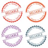 Reliable badge isolated on white background. Stock Images