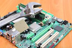 Reliable computer repair Stock Images