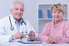 Reliable old doctor Stock Photo