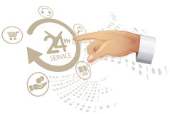 Reliable Service solution - Illustration Stock Image