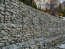 Reliable strengthening of the stone royalty free stock photos