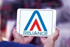 Reliance Communications logo. Logo of Reliance Communications on samsung tablet  . Reliance Communications ,RCom, is an Indian telecommunications company Stock Photography