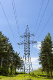 Reliance high-voltage electrical line. Royalty Free Stock Photos