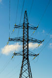 Reliance high-voltage transmission line Royalty Free Stock Photo