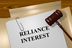 Reliance Interest concept. Render illustration of Reliance Interest concept Title On Legal Documents Royalty Free Stock Photos
