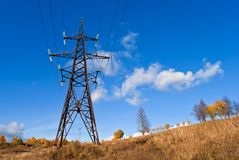 Reliance power line. Royalty Free Stock Photography
