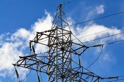 Reliance power lines Royalty Free Stock Image