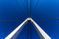 Reliance suspension bridge. With radiating steel cables Royalty Free Stock Image