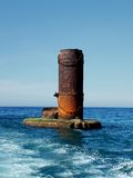 Relic. Ruin left over from bombed WWII bridge in Grand Harbour, Malta Stock Photography