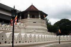 Relic tooth temple. The old relic tooth temple in kandy in sri lanka stock photo