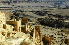 Relics of an ancient castle in Tibet Stock Photo