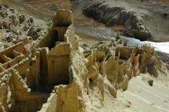 Relics of an Ancient Tibetan Castle Stock Photos