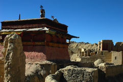 Relics of an Ancient Tibetan Castle Stock Photos
