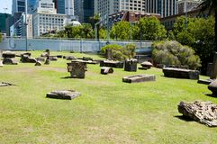 Relics of Demolished Buildings - Sydney - Australia Stock Images