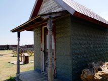 Relics of an 1880s town in South Dakota. One of the preserved buildings in an 1880s town in South Dakota stock photos