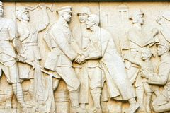 Relief. The relief of The August 1st. uprising cenotaph nanchang china Stock Photos