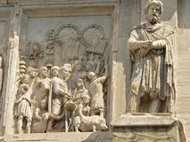 Relief. Rome - relief from Constantine triumph arch Royalty Free Stock Photography