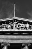 Relief above the British Museum Entrance Stock Images