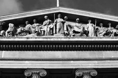 Relief above the British Museum Entrance Royalty Free Stock Photography
