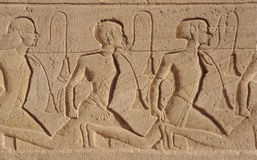 Relief at Abu Simbel temples. Architectural detail of the historic Abu Simbel temples in Egypt (Africa stock photography
