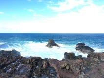 Relief accidenté des roches de lave Photographie stock libre de droits