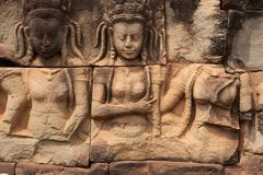 Relief Angkor Royalty Free Stock Image