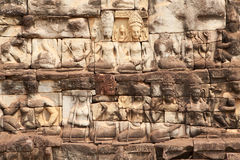Relief Angkor Royalty Free Stock Photo