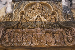 Relief at Angkor Temple Royalty Free Stock Photos