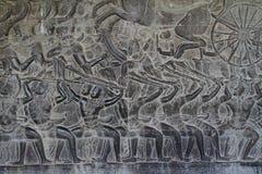Relief at Angkor Wat Stock Image