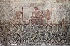 Relief at Angkor Wat Royalty Free Stock Image