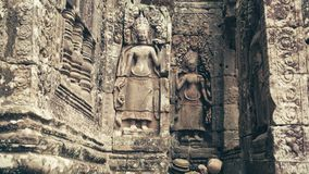 Relief of Apsara Angel royalty free stock photo
