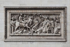 Relief at Arc de Triomphe. Detailed picture of the relief at Arc de Triomphe, Paris, France Royalty Free Stock Photography