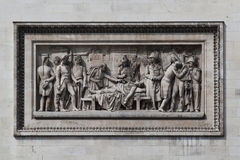 Relief at Arc de Triomphe. Detailed picture of the relief at Arc de Triomphe, Paris, France Royalty Free Stock Images