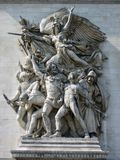 Relief at Arc de Triomphe. This relief is at Arc de Triomphe in Paris and is dedicated to French Revolution Stock Image