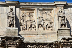 Relief of the Arch of Constantine. Near the Colosseum. Rome, Italy Royalty Free Stock Photography