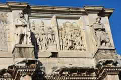 Relief of the Arch of Constantine. Near the Colosseum. Rome, Italy Stock Photography