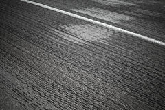 Relief asphalt road with white line Royalty Free Stock Photo