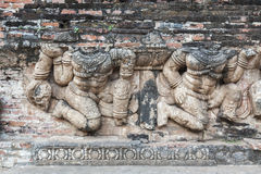 Relief at Ayutthaya Royalty Free Stock Images