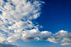 Relief  beautiful clouds Royalty Free Stock Photo