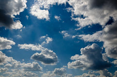Relief  beautiful clouds Royalty Free Stock Photography
