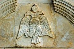 Relief with blazon in monastery. On Zakynthos island, Greece Stock Photo
