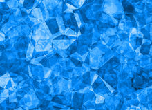 Relief blue crystal backgrounds texture Stock Photography